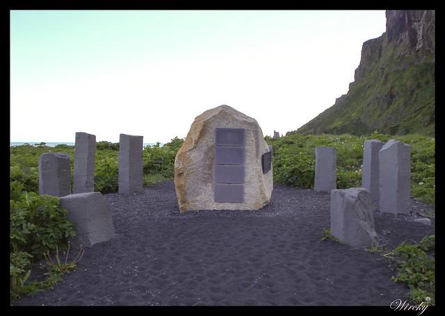Memorial alemán en Vík