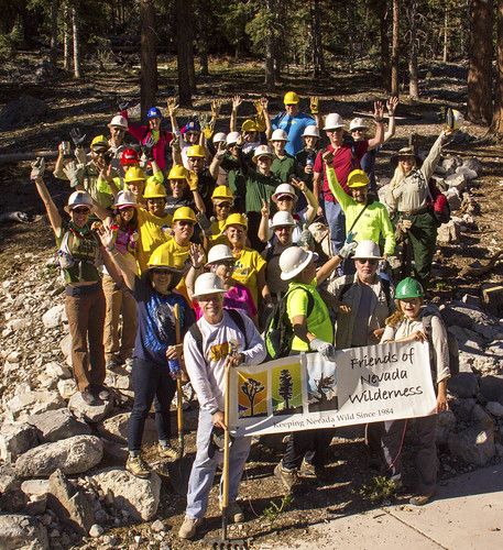 Friends of Nevada Wilderness is a partner with the U.S. Forest Service for a National Public Lands Day Event at the Spring Mountains National Recreation Area near Las Vegas. (Courtesy of Friends of Nevada Wilderness/Jose Witt)