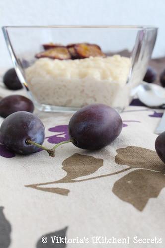 Milchreis mit ofengerösteten Zwetschken, Viktoria's [Kitchen] Secrets