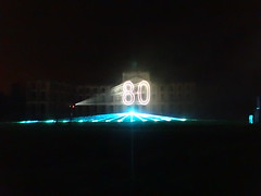 80 Jahre Citroen Traction Avant 2014 La Ferte-Vidame 658 Spectacle Laser et Pyrotechnique