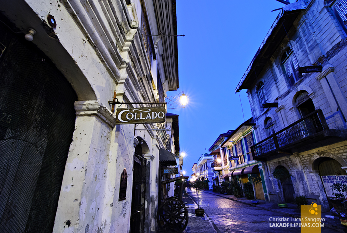 Dawn at Calle Crisologo in Vigan City