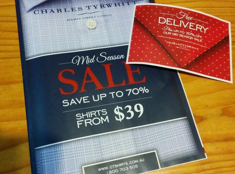 Charles Tyrwhitt promotional mail