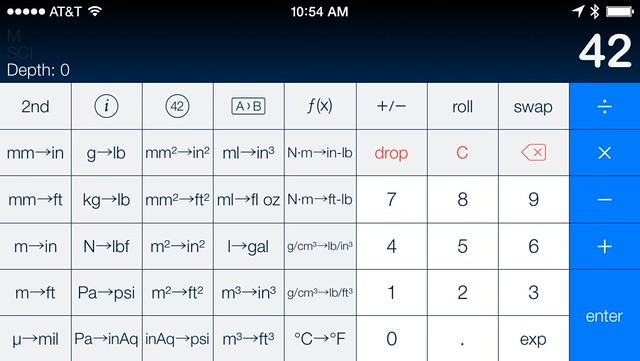 PCalc conversion layout