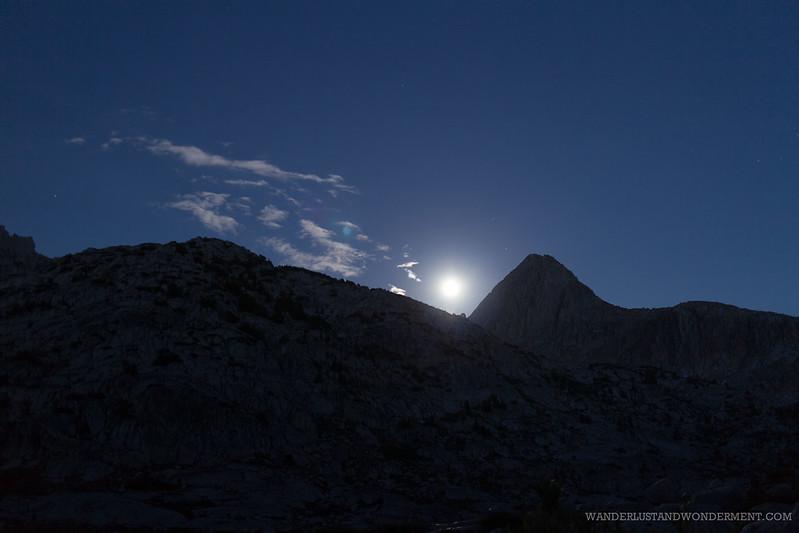 Full Moon Rising over Evolution Lake, Mt. Spencer