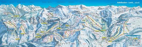 Adelboden - mapa sjezdovek