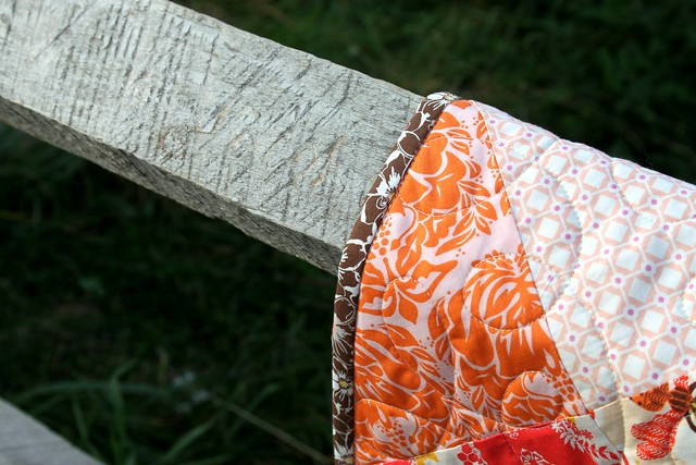 An Autumn Sun Quilt binding