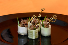 Beef and Cucumber rolls