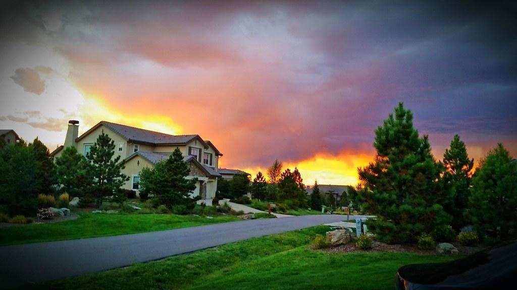 Colorado Sept '14 sunset colorado