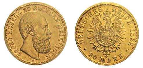 No. 363 GERMANY. Saxe-Meiningen. George II