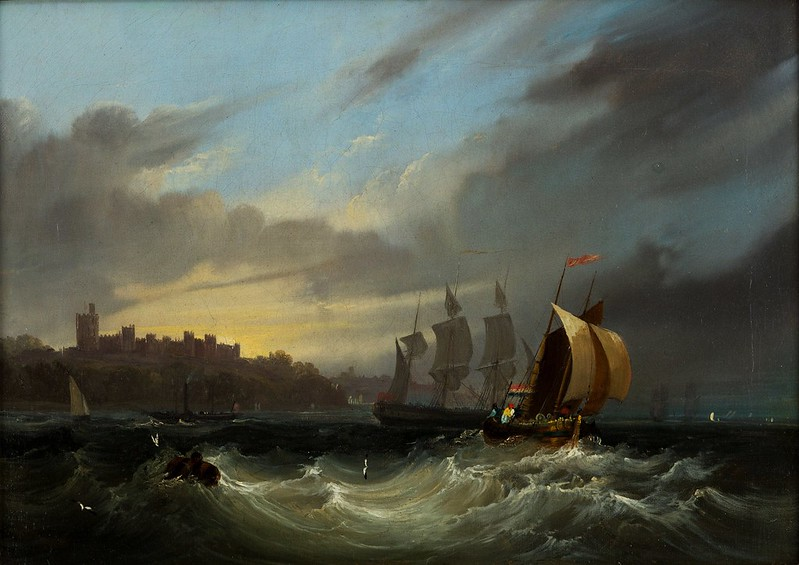 Frederick Calvert - Shipping in the Solent (c.1830)