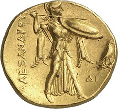 61r PTOLEMY, Satrap of Egypt 323-305. Gold stater