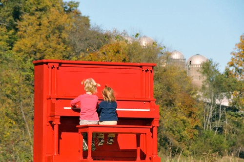 Red Piano, a Farm Form contributed by local business Able Trek Tours, Farm Art/DTour 2013. Photo by Katrin Talbot