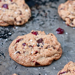 Salted Dark Chocolate & Cherry Cookies