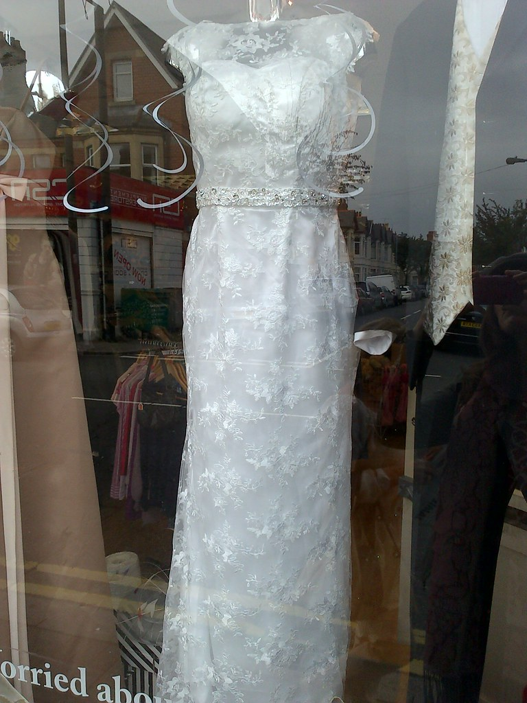 Charity shop wedding dress