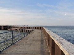Fairport Harbor Beach boardwalk  3/24/17