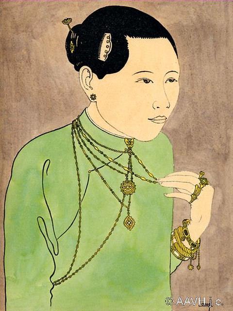 Cochinchine, 1935 – Bijoux – Parures de tête