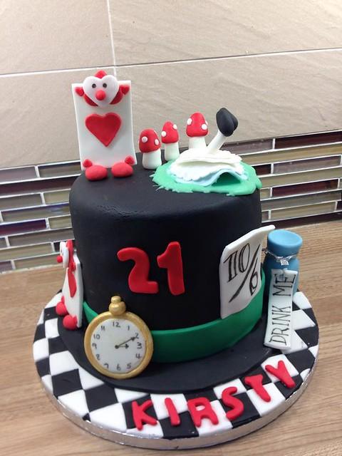 Alice in Wonderland Cake by Emmas Cake Creations - Telford
