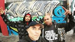 Rocking @the_vermontart_district_ rain didn't stop us #graffrootscrew #cube #edism #cero157 #southcentralla #graffitimylifestory #worldclassbombers #krylonkings #freedomwriters #soulsiderz @soulsiderz @graffroots