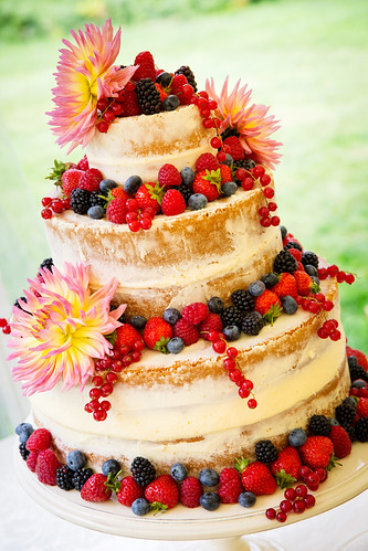 Wedding Photography - Naked Wedding Cake