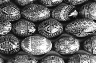 Easter eggs, made by Lu Gurley- White Springs