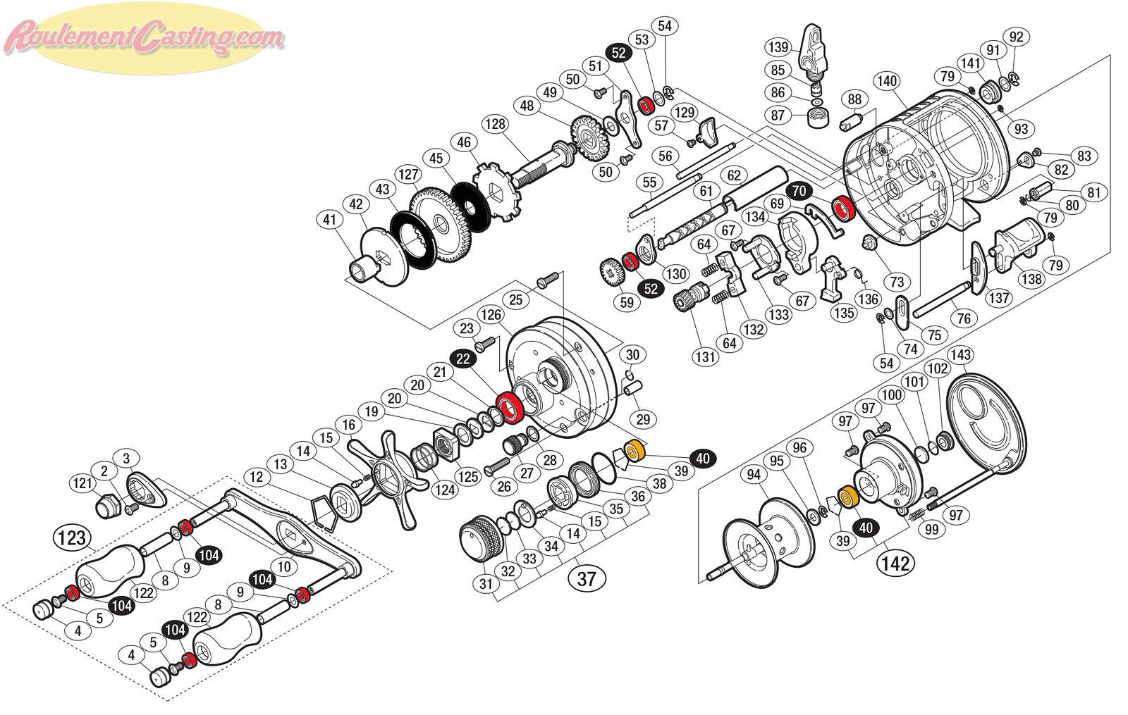 Schéma Shimano Conquest 09' 201DC