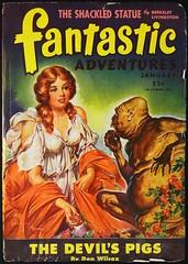 Fantastic Adventures Vol. 7, No. 1 (Jan., 1945). Cover Art by Robert Gibson Jones