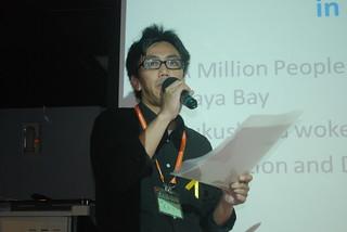 香港「反核之眾」代表;攝影:彭瑞祥。