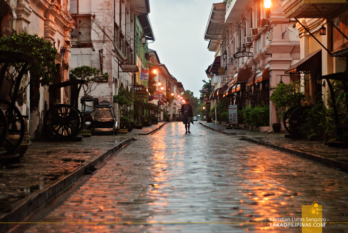 Wet Morning at Calle Crisologo in Vigan City