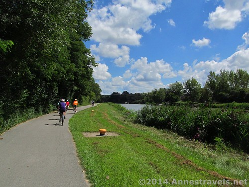 Riding near Pittsford, New York on the Erie Canal Path