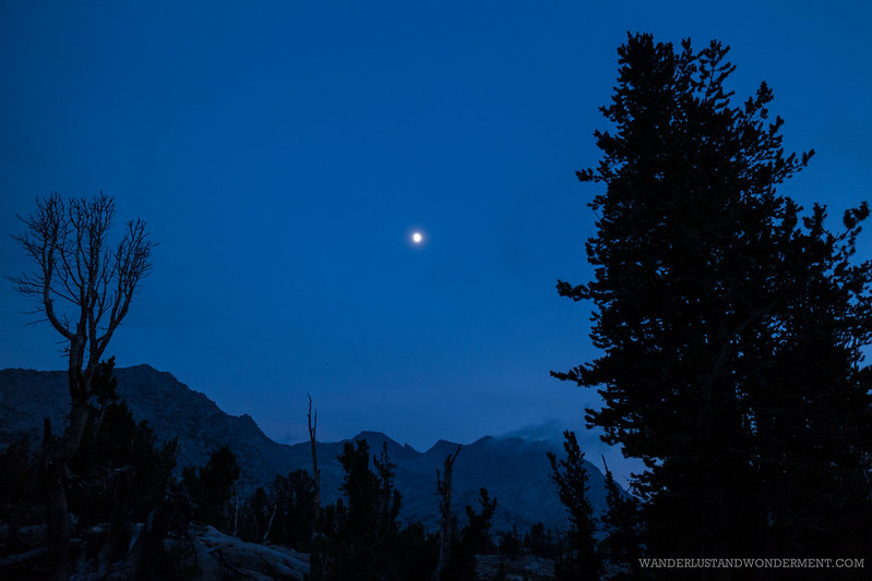 Moonrise over Marie Lake