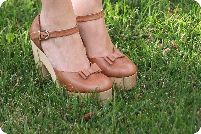 Brown ankle-strap heels by N.Y.L.A.