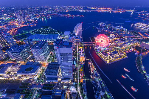 city nightphotography japan night landscape twilight cityscape nightscape pentax yokohama 夜景 横浜 k5 みなとみらい 薄暮 pentaxk5