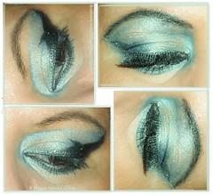 nose(0.0), face(0.0), azure(0.0), green(0.0), human body(0.0), eye liner(1.0), aqua(1.0), teal(1.0), eyelash(1.0), eyelash extensions(1.0), eyebrow(1.0), eye shadow(1.0), blue(1.0), cosmetics(1.0), eye(1.0), organ(1.0),