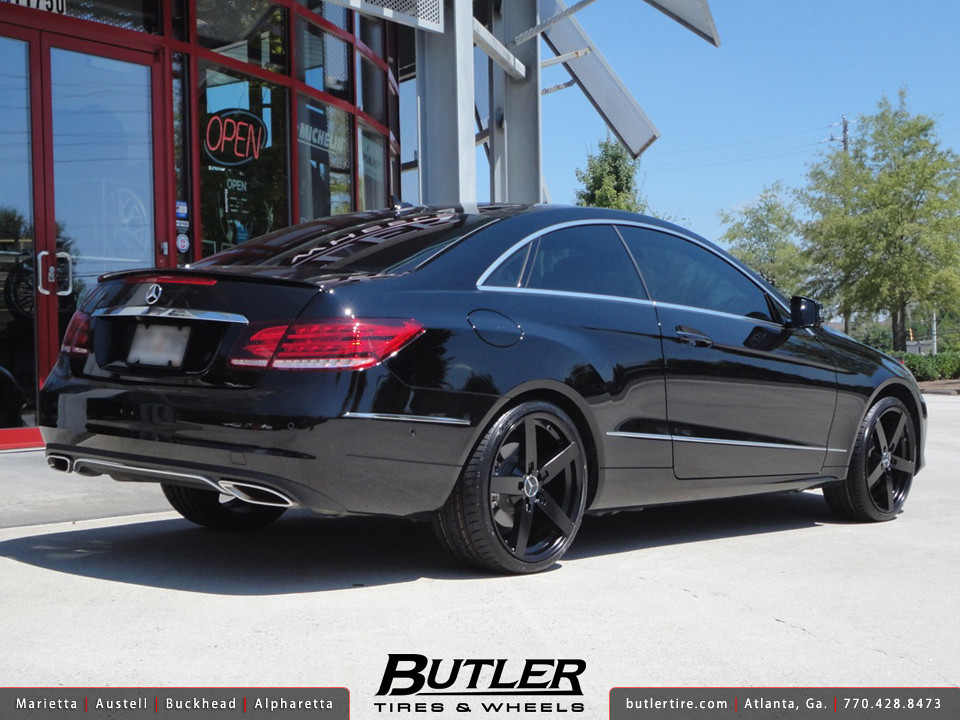 Mercedes e350 coupe with 19in mandrus arrow wheels a for Black rims for mercedes benz e350