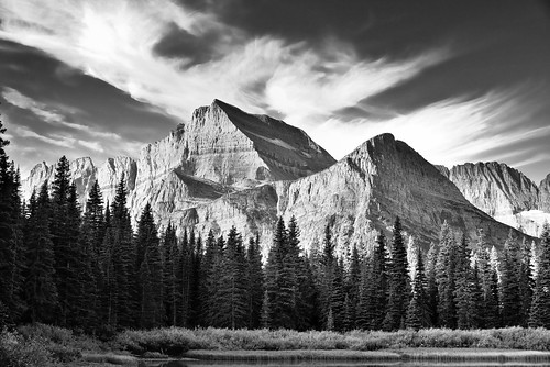 trees lake mountains nature blackwhite montana unitedstates worldheritagesite canvas glaciernationalpark portfolio day14 continentaldivide browning angelwing lakejosephine project365 colorefexpro watertonglacierinternationalpeacepark mountgould lookingsw lewisrange silverefexpro blueskieswithclouds nikond800e arête lookingtomountainsofthecontinentaldivide hiketogrinnelllake