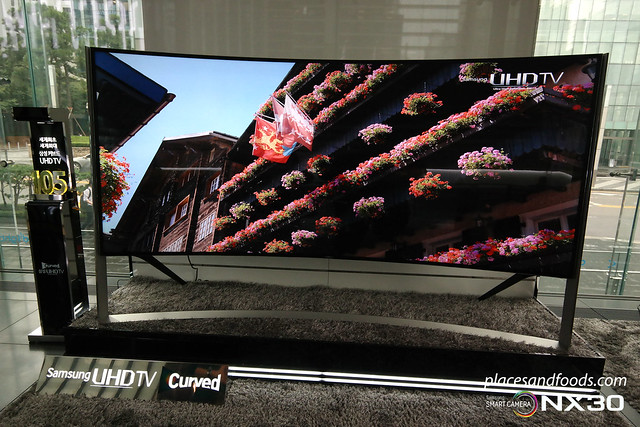samsung curved UHD 105 inch TV