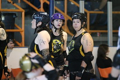 Game 1 at Slay of Fundy 2014: Daisy Cutters (Fredericton NB) vs Red Rock'n Roller Derby (PEI) (Sept 27 2014, Saint John NB)