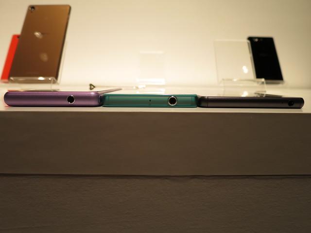 Xperia A2、Z3 Compact、Z3