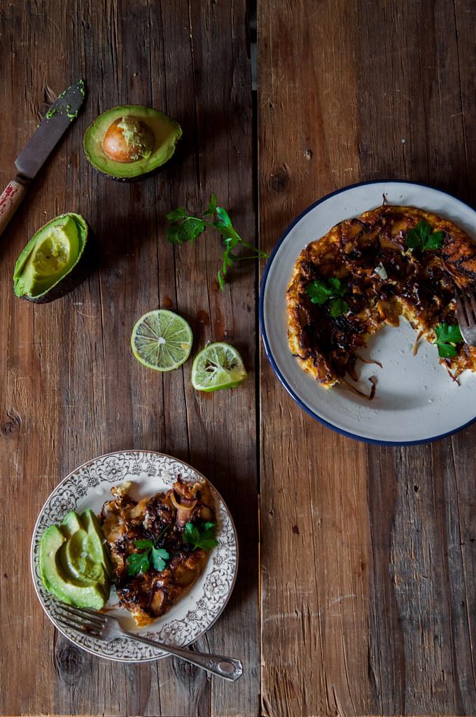 Caramelised Mushroom Omelette