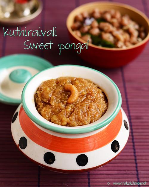Millet sweet pongal (Kuthiraivali sakkarai pongal)