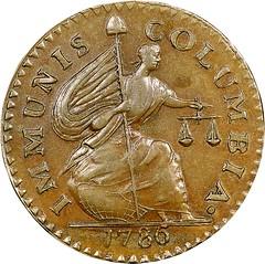 1786-85 Immunis Columbia, Confederatio Mule obverse