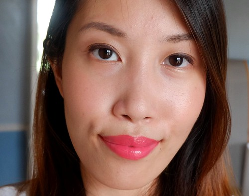 Copper Eyes Coral Lips Look