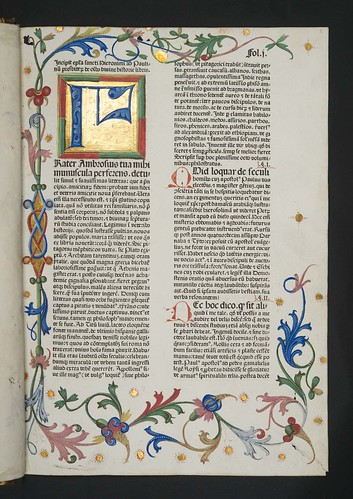 Illuminated and decorated page in  Biblia latina
