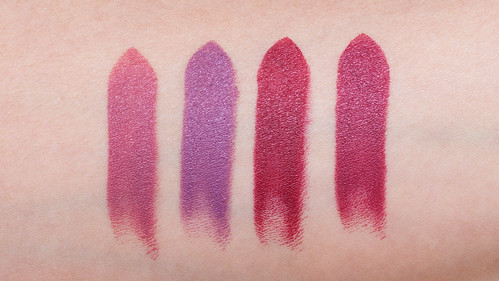 NARS Anna, Audrey, Dominique, and Vivien Audacious Lipstick Swatches