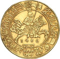 331r HRE. Sigismund, 1446-1496. 7 ducats 1486