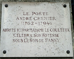 Photo of André Chenier marble plaque