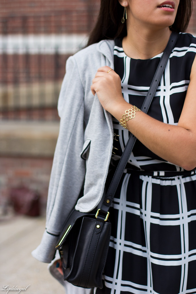 grid print dress, grey sweatshirt blazer-7.jpg