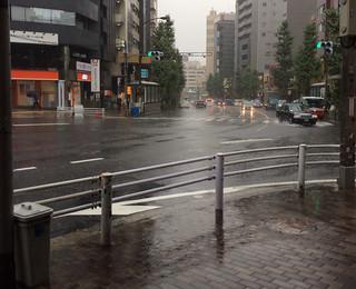 台風18号 2014/9/6 朝9時ごろ 東京都内