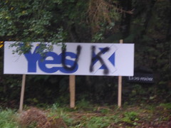 Pro-Union vandalism during Scottish Independence referendum 2014