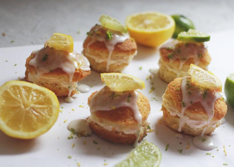 lemon and lime petit fours